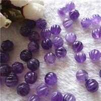 Natürliche Amethyst Perlen, rund, Februar Birthstone & gewellt, 12mm, Bohrung:ca. 0.5-1mm, 2PCs/Tasche, verkauft von Tasche