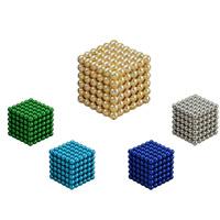 Magnetische Kugeln, Eisen, rund, plattiert, DIY & mit Magnet, keine, 5mm, 216PCs/setzen, verkauft von setzen