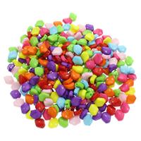 Volltonfarbe Acryl Perlen, gemischte Farben, 11x9.50x6mm, Bohrung:ca. 1mm, 500G/Tasche, verkauft von Tasche