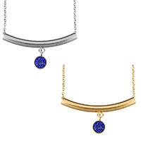 Edelstahl Schmuck Halskette, mit Verlängerungskettchen von 2lnch, plattiert, Oval-Kette & für Frau & mit Strass, keine, 40x19mm, 1.5mm, verkauft per ca. 18 ZollInch Strang