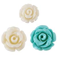 Harz Schmuckperlen, Blume, verschiedene Größen vorhanden, keine, Bohrung:ca. 1mm, verkauft von PC