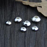 925 Sterling Silber Perlen, Rondell, verschiedene Größen vorhanden, 50PCs/Menge, verkauft von Menge