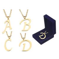 Edelstahl Schmuck Halskette, goldfarben plattiert, Mit Verpackungskasten & Oval-Kette & verschiedene Stile für Wahl, 2.5mm, verkauft per ca. 18 ZollInch Strang