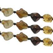 Achat Perlen, gemischter Achat, mit Glas, gemischt, 15x20x13-25x37x20mm, Bohrung:ca. 1.5mm, ca. 13PCs/Strang, verkauft per ca. 15.5 ZollInch Strang