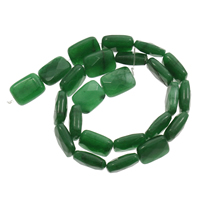 gefärbter Marmor Perle, Rechteck, 12x16x11mm, Bohrung:ca. 1mm, ca. 25PCs/Strang, verkauft per ca. 14.5 ZollInch Strang