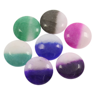 gefärbter Marmor Perle, flache Runde, kein Loch, keine, 22x7mm, 5PCs/Tasche, verkauft von Tasche