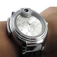Herren Armbanduhr, Silikon, mit Zinklegierung Zifferblatt & Glas, plattiert, auch können so leichter verwendet werden & für den Menschen, keine, 50mm, Länge:ca. 9.4 ZollInch, verkauft von PC