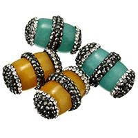 gefärbte Jade Perle, mit Ton, gemischt, 15-17x24-26x15-17mm, Bohrung:ca. 1mm, 10PCs/Menge, verkauft von Menge