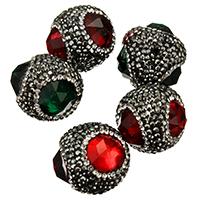 Kristall-Perlen, Kristall, mit Ton, facettierte & gemischt, 23-25x21-23x23-25mm, Bohrung:ca. 2mm, 10PCs/Menge, verkauft von Menge