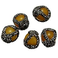 Malaysia Jade Perle, mit Ton, natürlich, gemischt, 14-16x17-21x16-18mm, Bohrung:ca. 1mm, 10PCs/Menge, verkauft von Menge