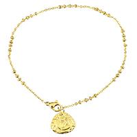 Edelstahl Schmuck Armband, Tropfen, goldfarben plattiert, Armband  Bettelarmband & Oval-Kette & für Frau, 15x13mm, 2mm, verkauft per ca. 9.5 ZollInch Strang