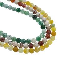 Feuerachat Perle, rund, verschiedene Größen vorhanden, keine, Bohrung:ca. 1mm, verkauft per ca. 14.5 ZollInch Strang