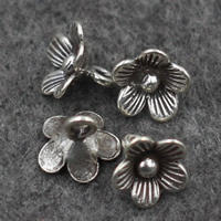 Bali Sterling Silber Anhänger, Thailand, Blumen-Knospe, 8x8mm, Bohrung:ca. 2mm, verkauft von PC