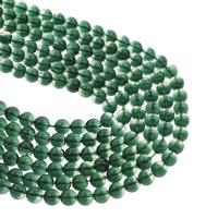 Grüner Quarz Perle, rund, grün, 8mm, Bohrung:ca. 1mm, ca. 48PCs/Strang, verkauft per ca. 14.5 ZollInch Strang