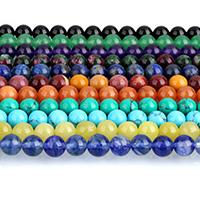 Edelstein Schmuckperlen, rund, verschiedenen Materialien für die Wahl, 10mm, Bohrung:ca. 1mm, ca. 38PCs/Strang, verkauft per ca. 15 ZollInch Strang