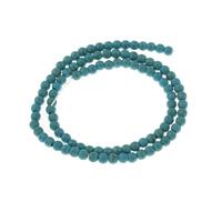 Synthetische Türkis Perle, rund, 4x3.5mm, 90PCs/Strang, verkauft per ca. 14 ZollInch Strang