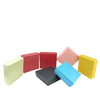 Papier Schmucksetkasten, Fingerring & Ohrring & Halskette, mit Schwamm, Quadrat, keine, 80x80x25mm, 100PCs/Menge, verkauft von Menge