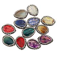 Natürliche Drachen Venen Achat Perlen, Drachenvenen Achat, mit Ton, Tropfen, keine, 18-20x24-26x6-7mm, Bohrung:ca. 1.5mm, 10PCs/Tasche, verkauft von Tasche