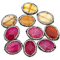 Natürliche Drachen Venen Achat Perlen, Drachenvenen Achat, mit Ton, flachoval, keine, 25x20x8.50mm, Bohrung:ca. 1.5mm, 10PCs/Tasche, verkauft von Tasche