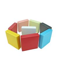 Papier Schmucksetkasten, Anhänger & Ohrring & Halskette, mit Schwamm, Quadrat, keine, 90x90x25mm, 70PCs/Menge, verkauft von Menge