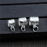 925 Sterling Silber Stiftöse Perlen, verschiedene Größen vorhanden, Bohrung:ca. 2-3mm, 10PCs/Menge, verkauft von Menge