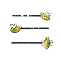 Haarschieber, Zinklegierung, Biene, metallschwarz plattiert, verschiedene Stile für Wahl & Emaille, frei von Blei & Kadmium, 50-60mm, verkauft von PC