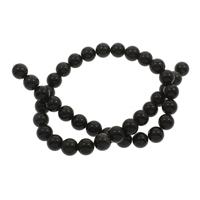 Schwarze Obsidian Perlen, Schwarzer Obsidian, rund, 10mm, Bohrung:ca. 1mm, ca. 38PCs/Strang, verkauft per ca. 15.5 ZollInch Strang