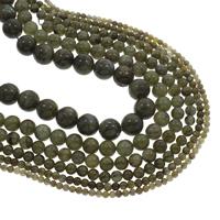 Labradorit Perlen, rund, verschiedene Größen vorhanden, Bohrung:ca. 1mm, verkauft per ca. 15.5 ZollInch Strang