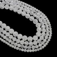 Runde Kristallperlen, Kristall, Knistern, Kristall, Bohrung:ca. 1mm, verkauft per ca. 15.5 ZollInch Strang