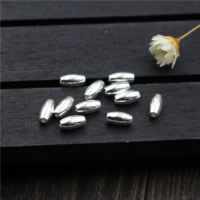 925 Sterling Silber Perlen, oval, 3x6mm, Bohrung:ca. 1mm, 100PCs/Menge, verkauft von Menge