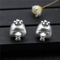925 Sterlingsilber European Perlen, 925 Sterling Silber, Huhn, 11.20x15mm, Bohrung:ca. 3.6mm, 5PCs/Menge, verkauft von Menge