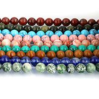Edelstein Schmuckperlen, rund, verschiedenen Materialien für die Wahl, 12mm, Bohrung:ca. 1mm, ca. 32PCs/Strang, verkauft per ca. 15 ZollInch Strang