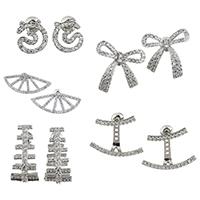 Messing Ohrring, plattiert, verschiedene Stile für Wahl & Micro pave Zirkonia & für Frau, frei von Nickel, Blei & Kadmium, verkauft von Paar