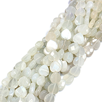 Opal Perlen, Herz, natürlich, facettierte, 12x12x5mm, Bohrung:ca. 0.5mm, ca. 34PCs/Strang, verkauft per ca. 15 ZollInch Strang
