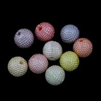 Plattierte Acrylperlen, Acryl, bunte versilbert & gemischt, 11mm, Bohrung:ca. 3mm, ca. 500PCs/Tasche, verkauft von Tasche