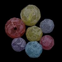 Transparente Acryl-Perlen, Acryl, rund, Drucken & verschiedene Größen vorhanden, gemischte Farben, Bohrung:ca. 2mm, verkauft von Tasche