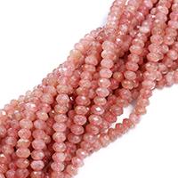 Strawberry Quartz Perle, Rondell, natürlich, verschiedene Größen vorhanden & facettierte, Bohrung:ca. 0.5-1mm, verkauft per ca. 16 ZollInch Strang