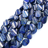 Lapislazuli Perlen, natürlicher Lapislazuli, 21x16x8mm, Bohrung:ca. 0.5mm, ca. 19PCs/Strang, verkauft per ca. 16 ZollInch Strang