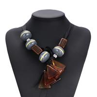 Zinklegierung Pullover Halskette, Planke, mit Satinband & Zinklegierung, Platinfarbe platiniert, für Frau, frei von Nickel, Blei & Kadmium, 275mm, verkauft per ca. 52 ZollInch Strang