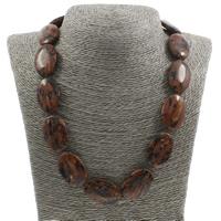 Unisex Halskette, Goldsand, Messing Karabinerverschluss, flachoval, 20x30x6mm, verkauft per ca. 18 ZollInch Strang