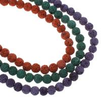 Natürliche Lava Perlen, rund, verschiedene Größen vorhanden, keine, Bohrung:ca. 1mm, verkauft per ca. 15 ZollInch Strang