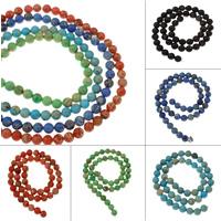 Impression Jaspis Perle, rund, verschiedene Größen vorhanden, keine, Bohrung:ca. 1mm, verkauft per ca. 15 ZollInch Strang