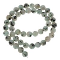 Lotus Jaspis Perlen, Lotos Jaspis, rund, verschiedene Größen vorhanden, Bohrung:ca. 1mm, verkauft per ca. 15 ZollInch Strang