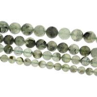 Natürliche Moos Achat Perlen, rund, verschiedene Größen vorhanden, Bohrung:ca. 1mm, verkauft per ca. 15.5 ZollInch Strang