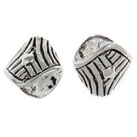 Zinklegierung Perlenkappe, antik silberfarben plattiert, frei von Blei & Kadmium, 14.50x15.50x10mm, Bohrung:ca. 2mm, 10PCs/Tasche, verkauft von Tasche