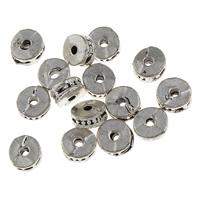 Zink Legierung Perlen Schmuck, Zinklegierung, Rondell, antik silberfarben plattiert, frei von Blei & Kadmium, 3x6mm, Bohrung:ca. 1mm, 50PCs/Tasche, verkauft von Tasche
