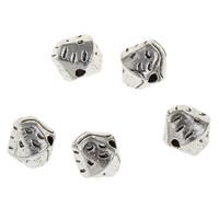 Zink Legierung Perlen Schmuck, Zinklegierung, antik silberfarben plattiert, frei von Blei & Kadmium, 7.50x7x7mm, Bohrung:ca. 1mm, 50PCs/Tasche, verkauft von Tasche