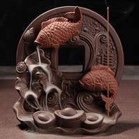 Porcelain Backflow Incense Burner, 145x156mm, verkauft von PC