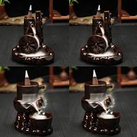 Porcelain Backflow Incense Burner, Porzellan, handgemacht, verschiedene Stile für Wahl, 110x93x120mm, verkauft von PC