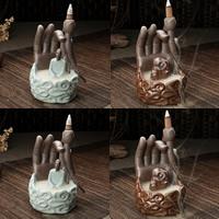 Porcelain Backflow Incense Burner, Porzellan, handgemacht, verschiedene Stile für Wahl, 120x106x165mm, verkauft von PC